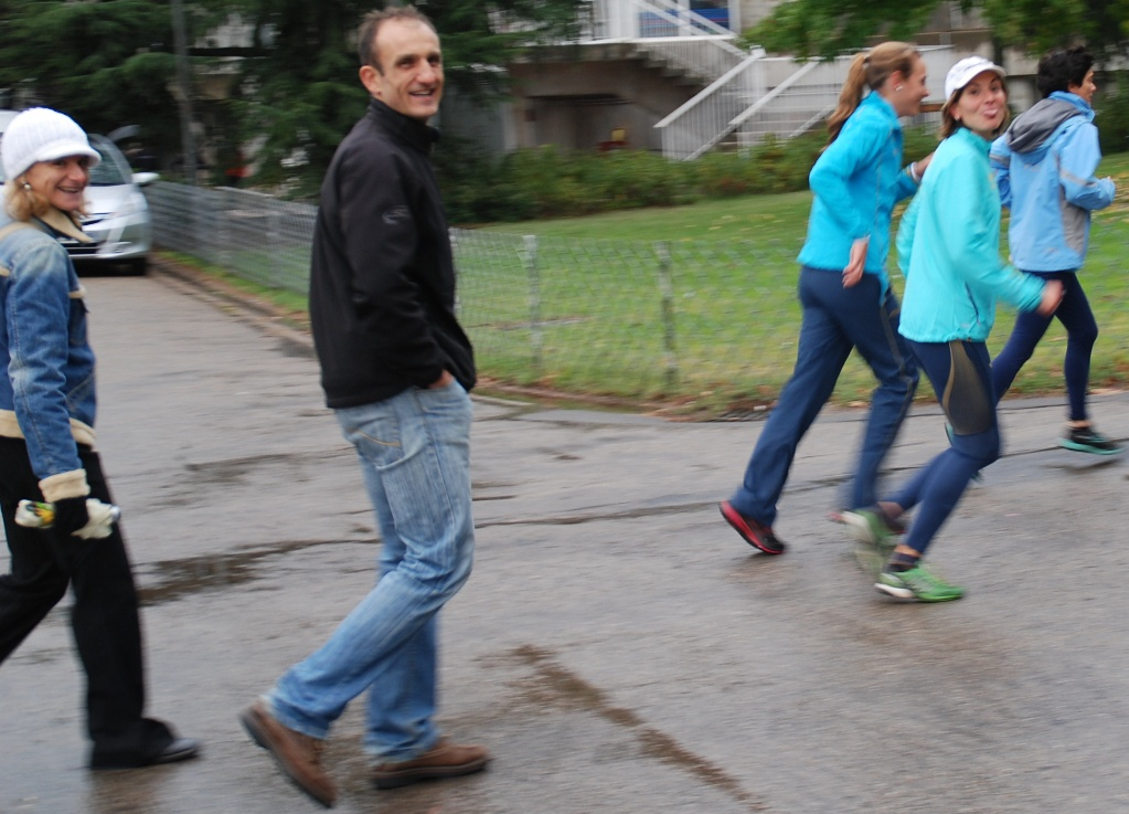 Lors du France de 4 x 1500m Séverine est venue encourager ses cop
