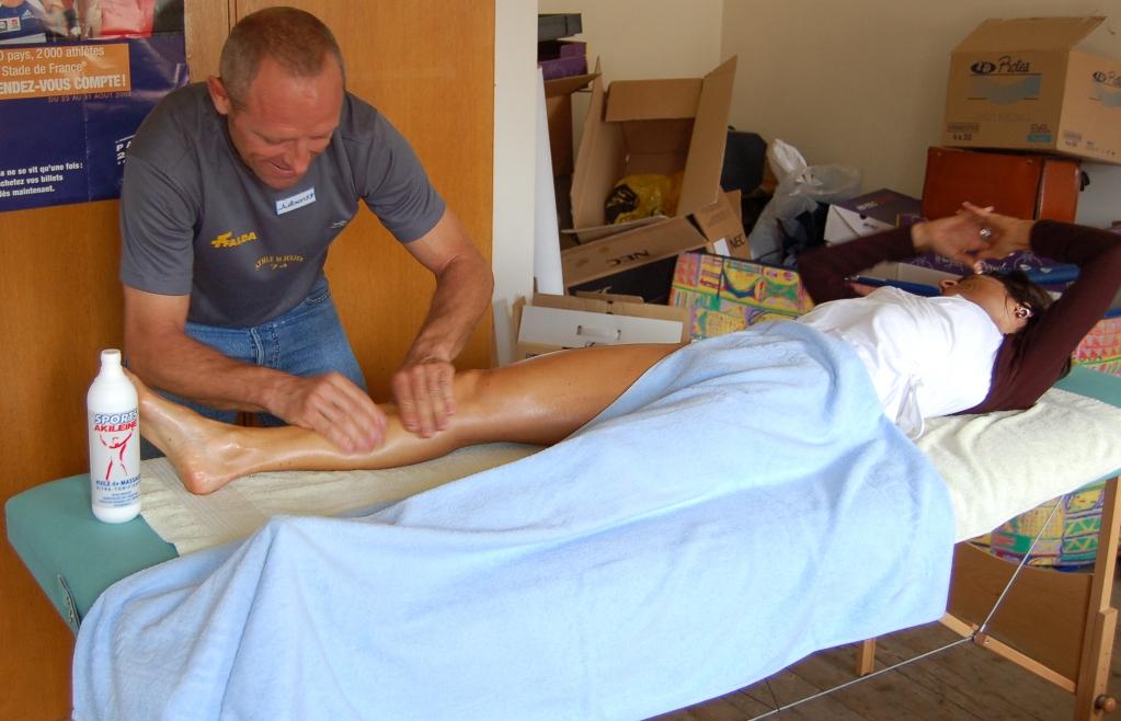 Massage de récupération bien mérité pour Miss championne !