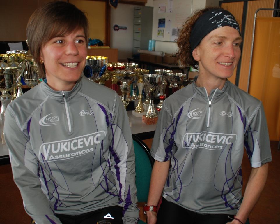 Audrey Duperrier et Armelle Magat-Saunier fières et heureuses de représenter leur commune au plus haut-niveau.