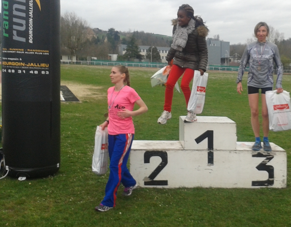 Podium senioir 10km BJ 2015